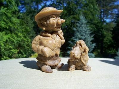 Чешская пани с собачкой, кукла из хлебного мякиша
