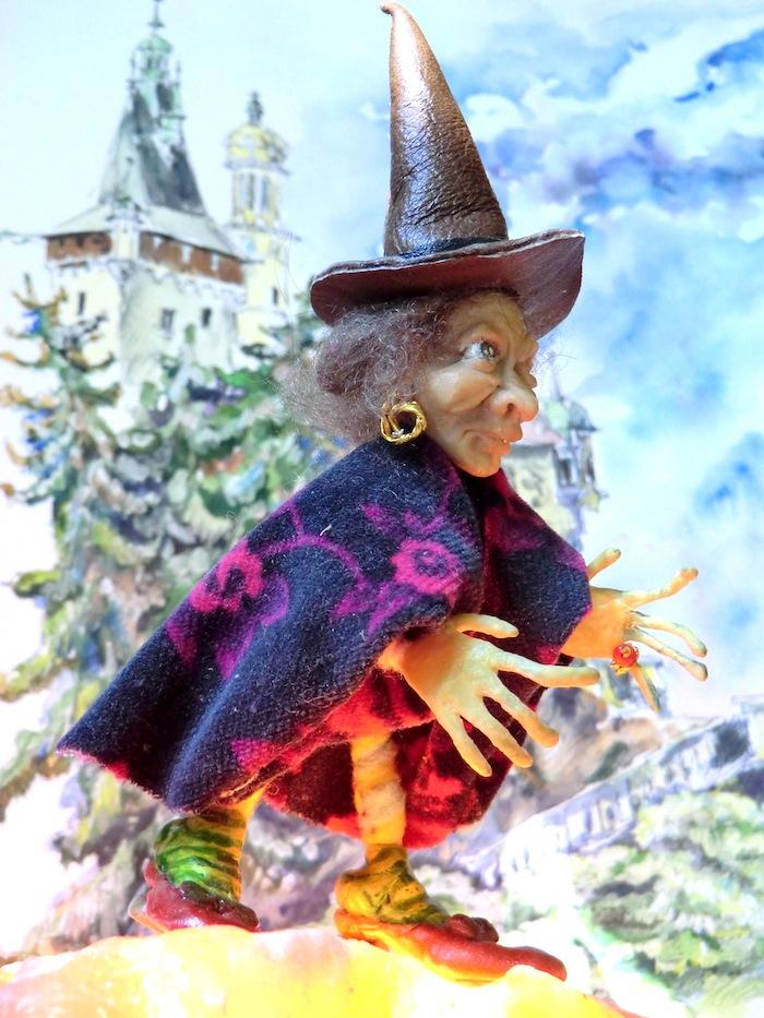 Цурин борис. ЛЯ БРУХА (ВЕДЬМА, КОЛДУНЬЯ), кукла на каркасе