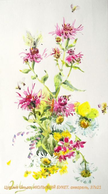 Полевые цветы и травы на картинах