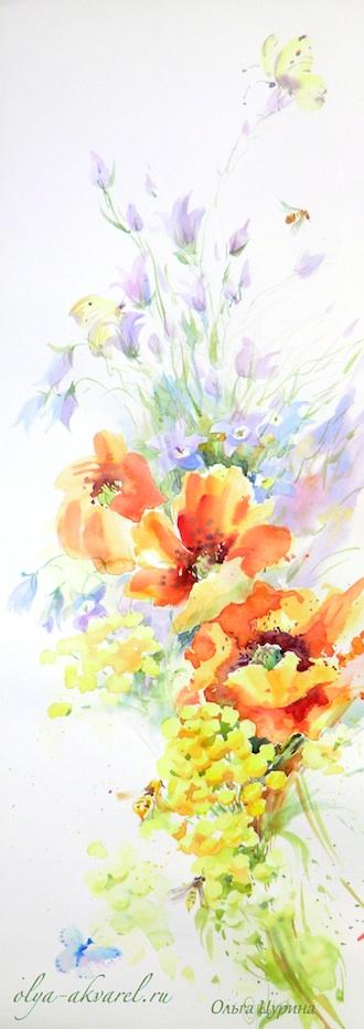 синий чай цветы